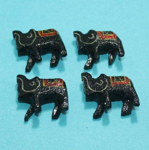 27 Pcs Elephants Wooden Beads,Size 1.25 Inches