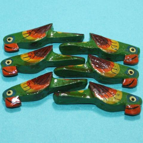 25 Pcs Parrots Wooden Beads,Size 2.25 Inches