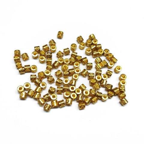 3mm, 50pcs, Designer Metal Beads