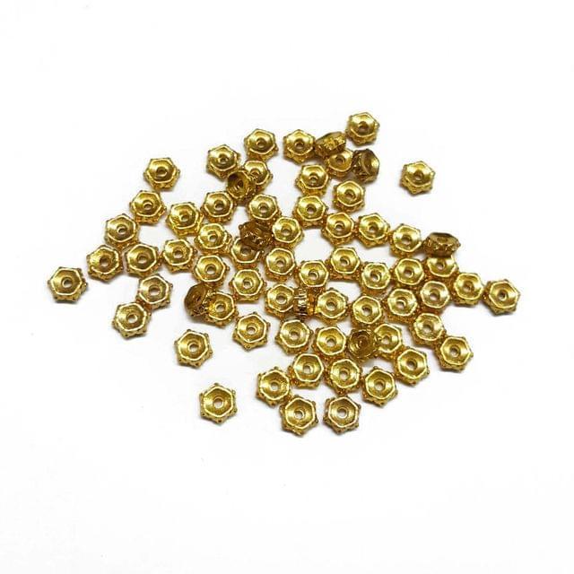 5mm, 50pcs, Designer Metal Beads
