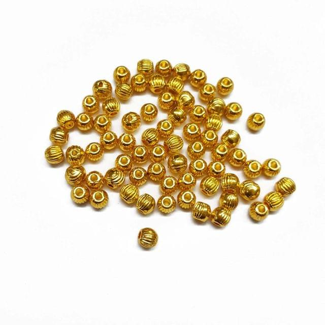 4mm, 40pcs, Designer Metal Beads