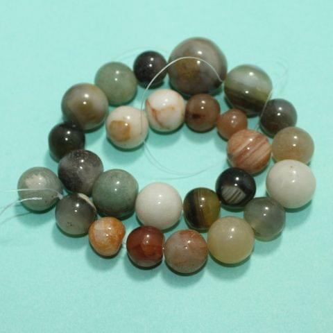Round MultiColor Onyx Stone Beads 10-22 mm
