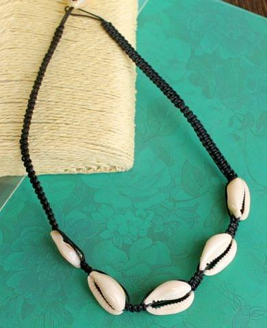 Cotton Cord Shell Cowrie Beads Necklace