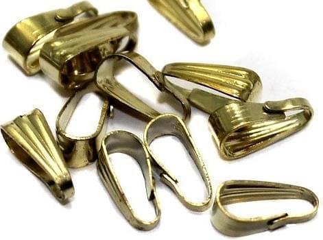 100 Pcs Pinch Bail Golden 9mm