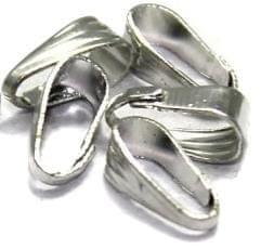 100 Pcs Pinch Bail Silver 9mm