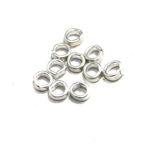 590 Pcs Brass Silver Jump Rings, Size 5x2mm