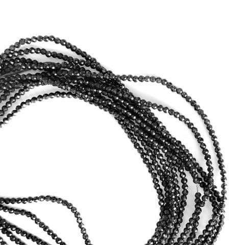 2 mm Black Hydro Beads 5 Strands