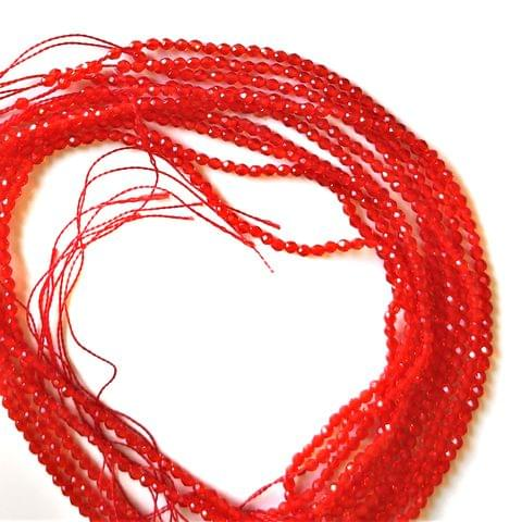2 mm Bright Red Hydro Beads 5 Strands