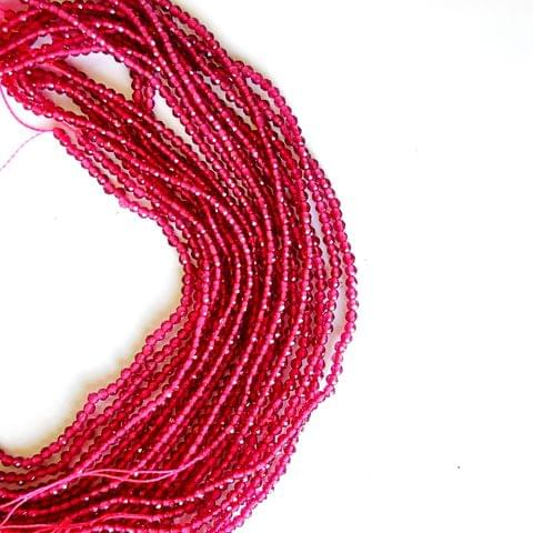 2 mm Ruby Hydro Beads 5 Strands