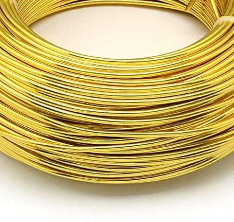Aluminium Craft Wire Gold 10 Mtrs, Size 2 mm