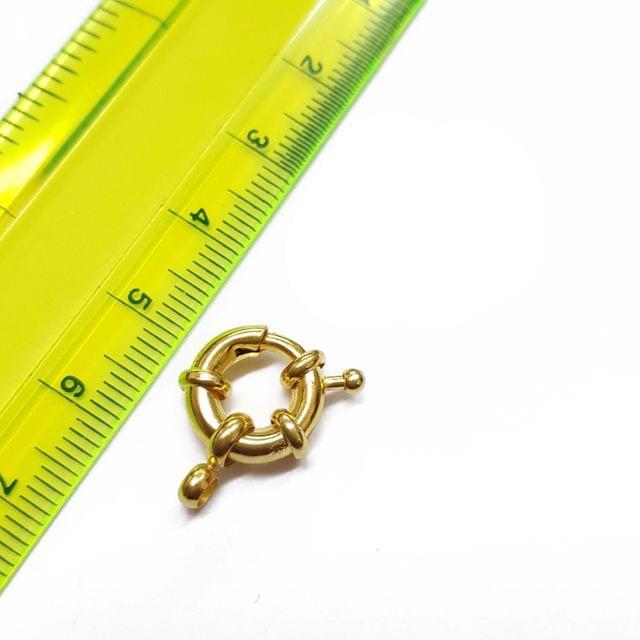 6pcs, 12mm, AAA quality gold polish spring clasps