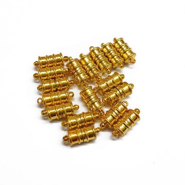 6pcs, 15mm, AAA quality silver polish magnetic clasps