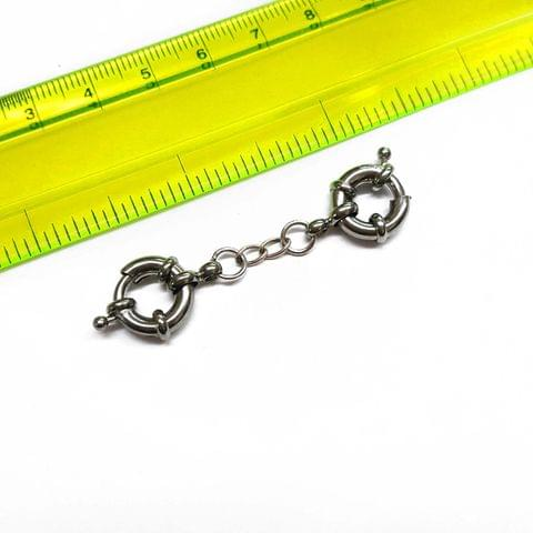 2pcs, 1.5 inches, AAA quality silver polish spring chain lock