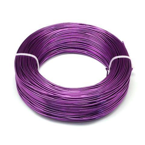 10 Mtrs Aluminium Colored Wire Purple 1mm (18 Gauge)