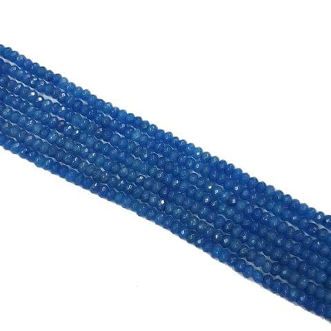 2 lines, 4mm Faceted Jade Stone Strands, 115+ beads in each, 14 inches