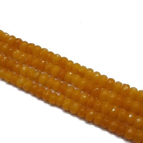 2 lines, 8mm Faceted Jade Stone Strands, 70+ beads in each, 14 inches