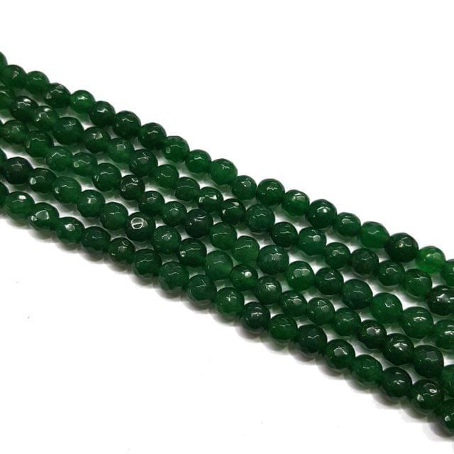 2 lines, 6mm Faceted Onyx Stone Strands, 58+ beads in each, 14 inches