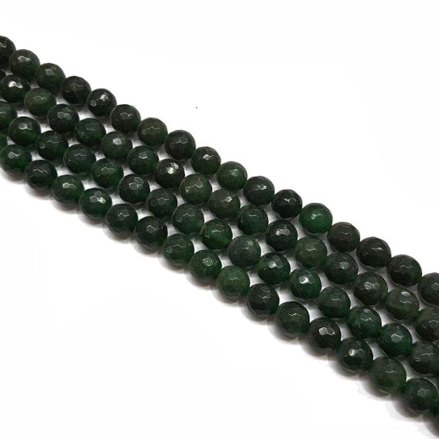 2 lines, 8mm Faceted Onyx Stone Strands, 45+ beads in each, 15 inches
