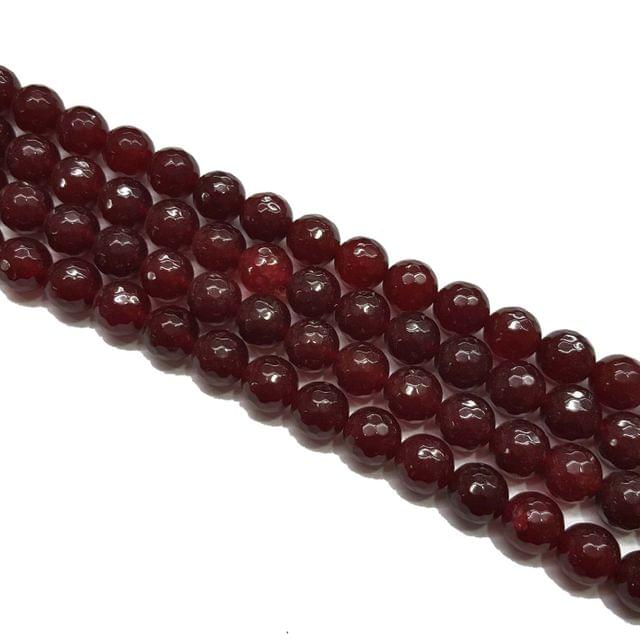 2 lines, 10mm Faceted Onyx Stone Strands, 36+ beads in each, 15 inches