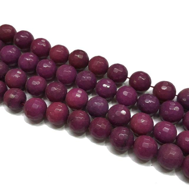 2 lines, 14mm Faceted Onyx Stone Strands, 26+ beads in each, 14 inches