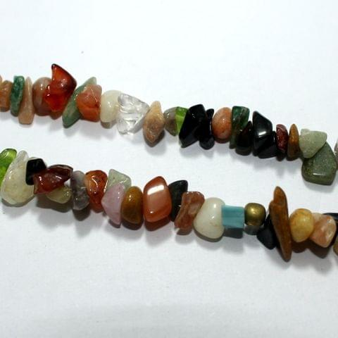 MultiColor Stone Chips 2 Strings, 5-8mm, Approx 255+ Pcs