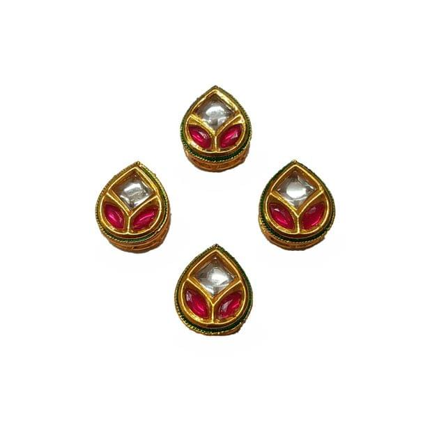 4pcs, 14x16mm Kundan Spacer