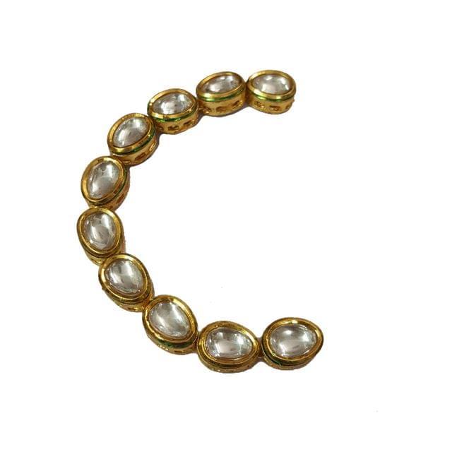 10pcs, 13x10mm Kundan Drop Chain