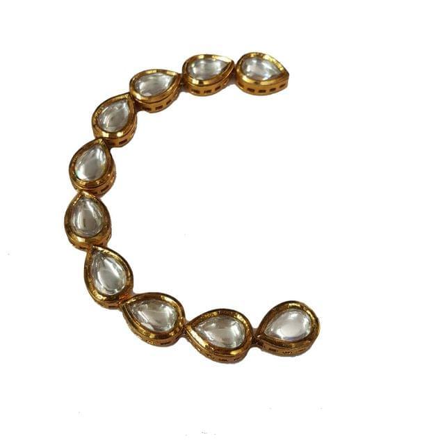10pcs, 10x15mm Kundan Drop Chain