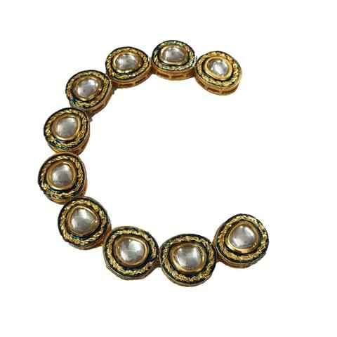 10pcs, 18x20mm Kundan Oval Chain