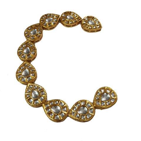 10pcs, 19x24mm Kundan Drop Chain