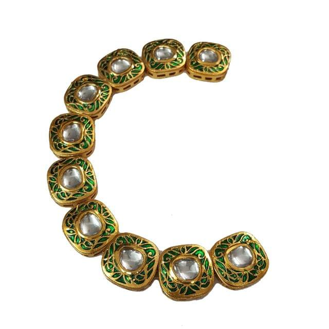 10pcs, 20mm Kundan Rectangle Chain