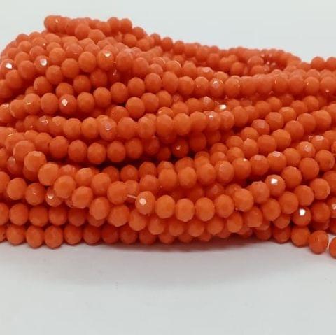 Orange 5 Strings Crystal Beads 6mm Rondelle