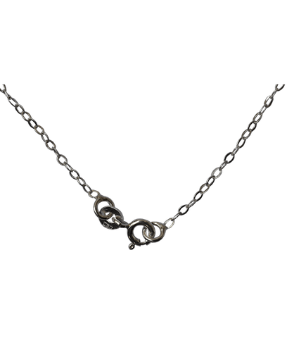 92.5 Sterling Silver Flat Link Chain-40 Cms