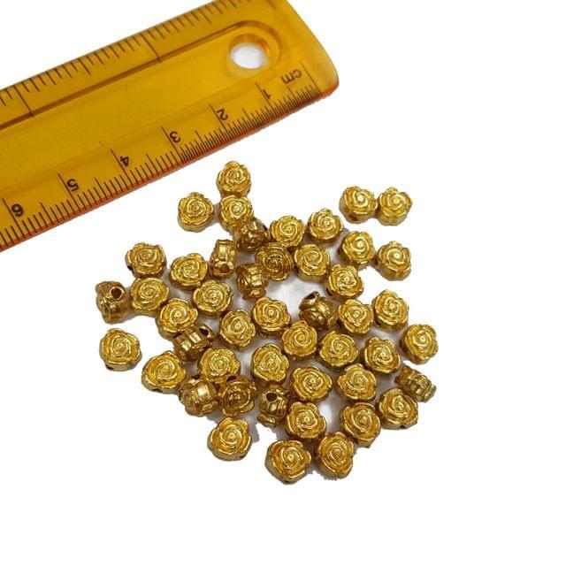 30pcs, 6mm Golden Spacer Beads
