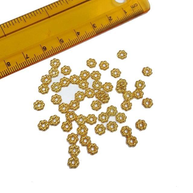 30pcs, 5mm Golden Spacer Beads