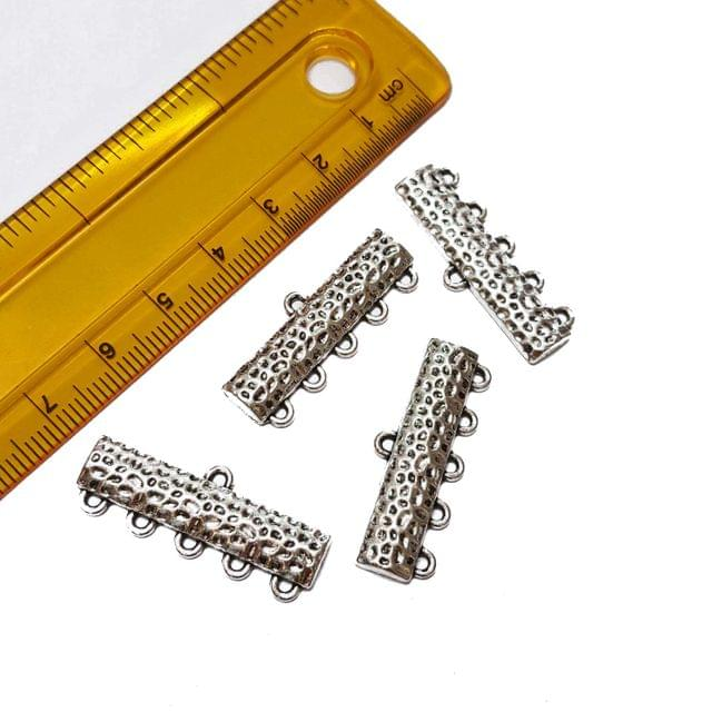 10pcs, 12x32mm, Oxidised Silver Spacer (5 kadi)