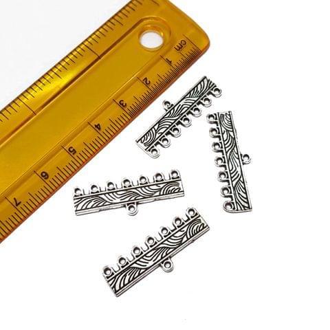 10pcs, 10x30mm, Oxidised Silver Spacer (7 kadi)