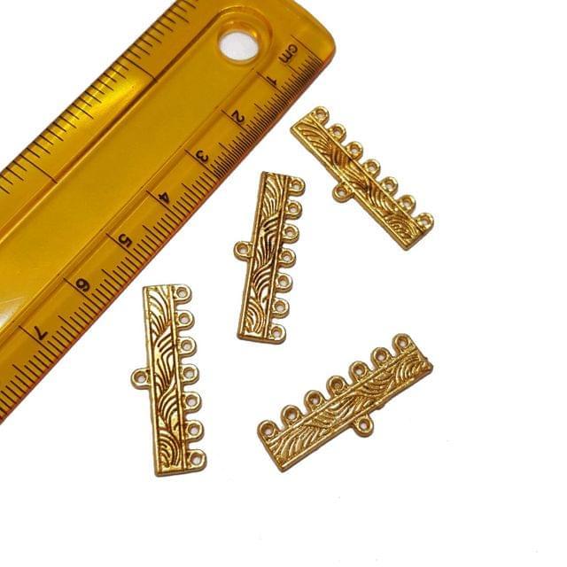10pcs, 10x30mm, Golden Spacer (7 kadi)