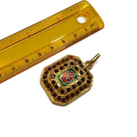 1pc, 38x29mm, Jadau Pendant
