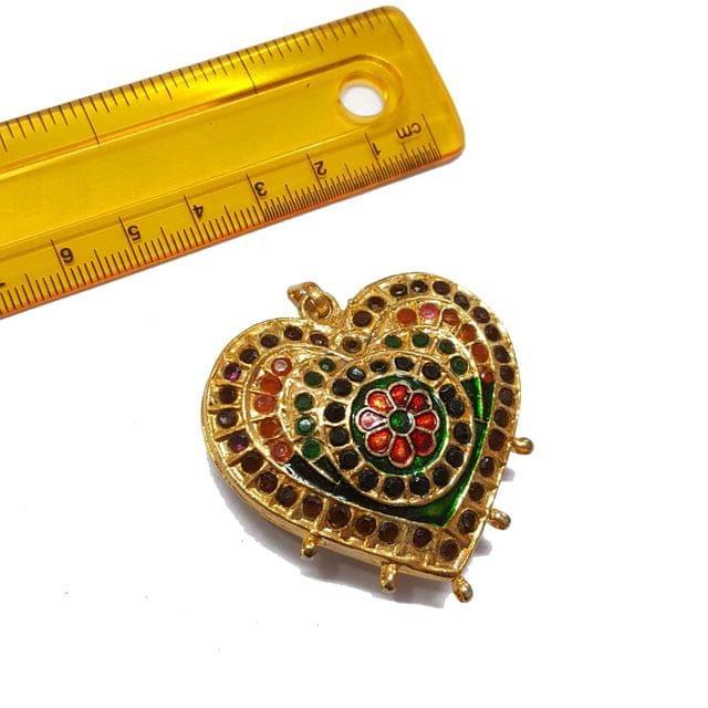 1pc, 47x45mm, Jadau Pendant
