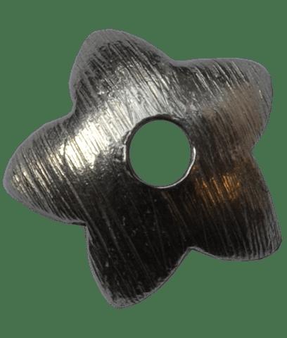 92.5 Sterling Silver 9mm Brushed Flower Cap