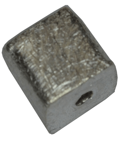 92.5 Sterling Silver Brushed Cube Bead 6mm