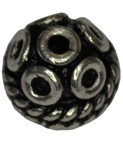 92.5 Sterling Silver 6mm Oxidized Bead