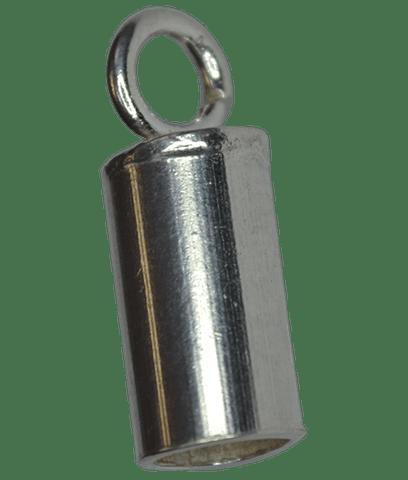 92.5 Sterling Silver 4mm Inner Diameter End Tube