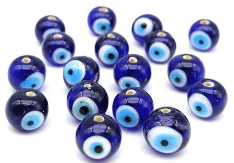 240 Evil Eye Round Beads Blue 8mm