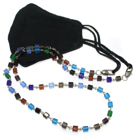 Glass Beaded Designer Mask Chain Dori Multi