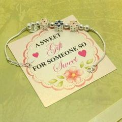 Floral Sterling Silver Bracelet