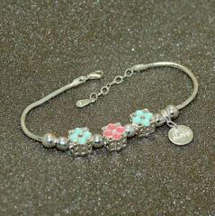 Star Charms Sterling Silver Bracelet