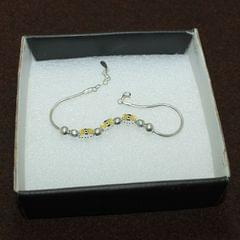 Bow Tie Sterling Silver Charms Bracelet