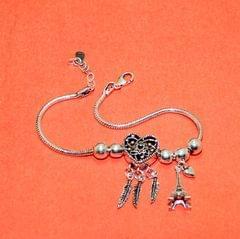 Love Sterling Silver Oxidized Finish Bracelet